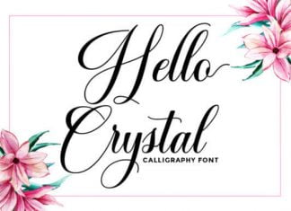 Hello Crystal Font