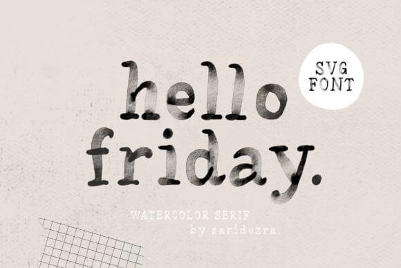 Hello Friday Font