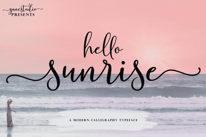Hello Sunrise Script Font