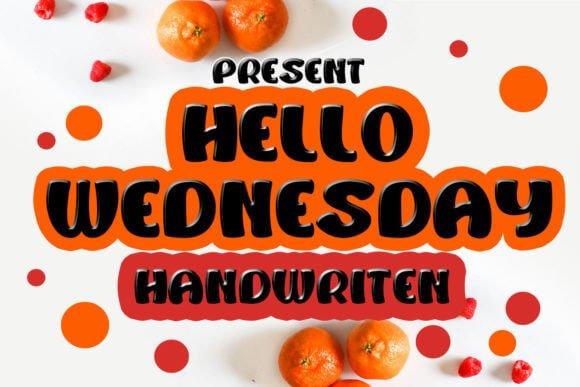 Hello Wednesday Font