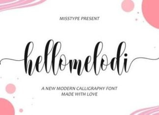 Hellomelodi Font