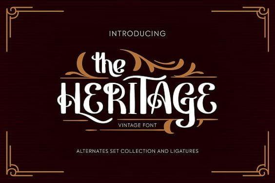 Heritage Vintage Font