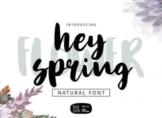 Hey Spring Brush Font