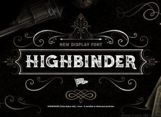 Highbinder Display Font