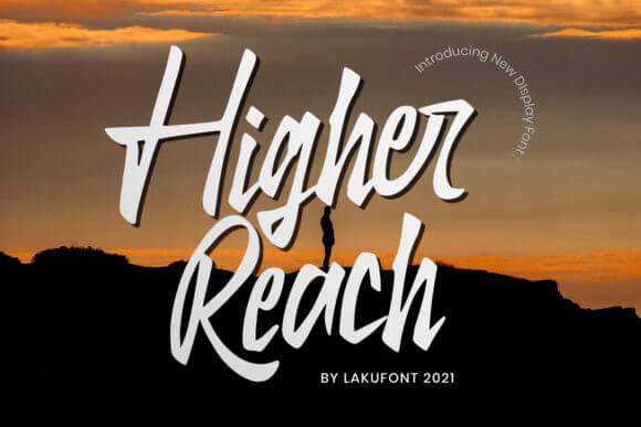Higher Reach Font