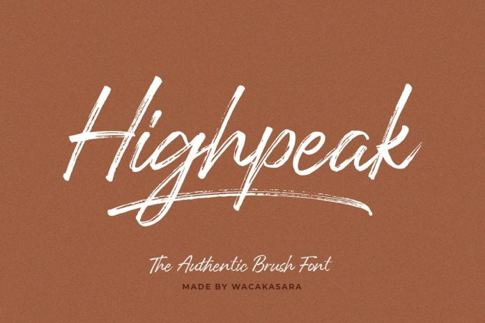 Highpeak Font