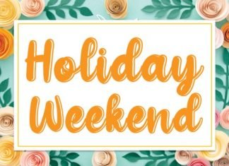 Holiday Weekend Font
