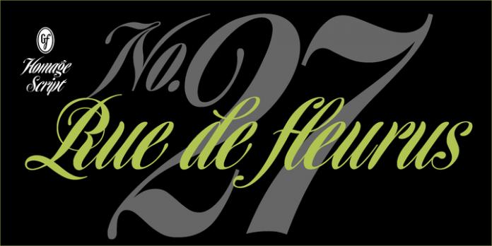 Homage Script Font