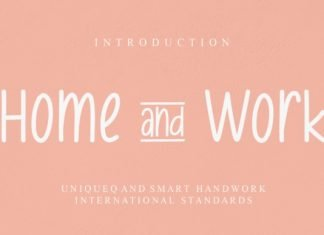 Home & Work Font