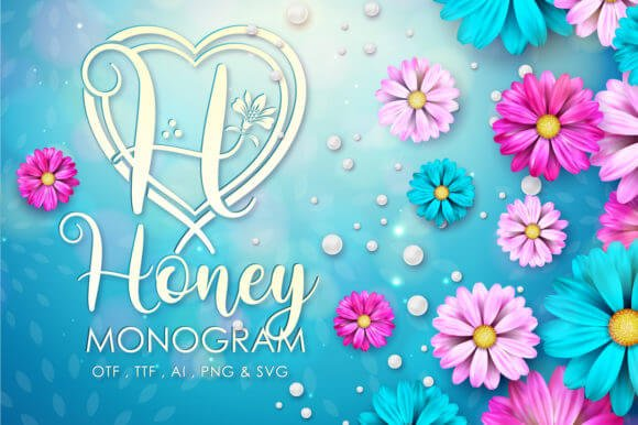 Honey Monogram Font