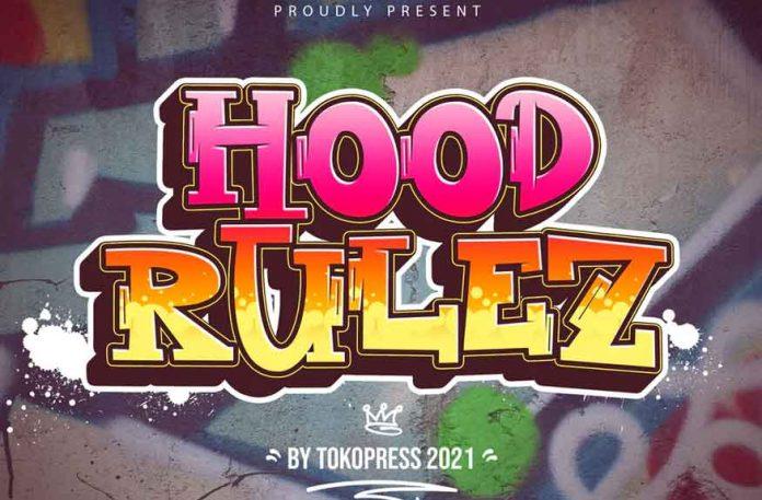 Hood Rulez - Graffiti font
