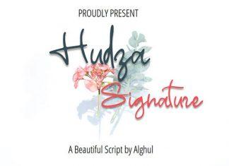 Hudza Signature Font