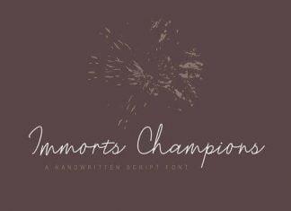 Immorts Champions Font