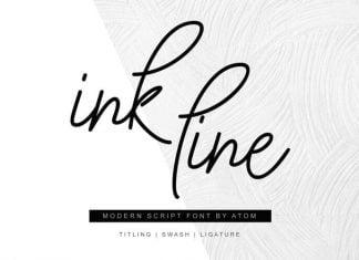 Ink Line Modern Script Font
