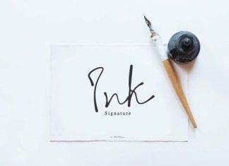 Ink Signature Font