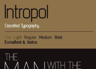 Intropol family Font
