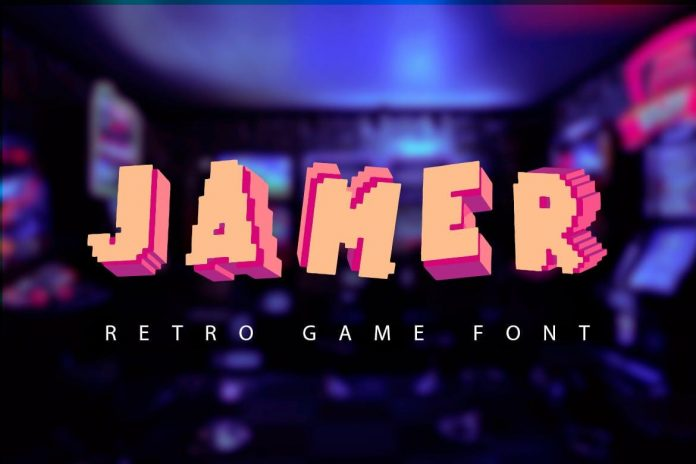 Jamer retro game font