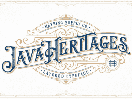 Java Heritages + Extras Font