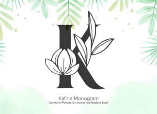 Kafina Monogram Font