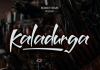 Kaladurga - Hand Drawn Brush Font