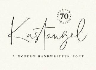 Kastangel - Handwritten script font