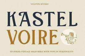 Kastel Voire - Classic Display Font