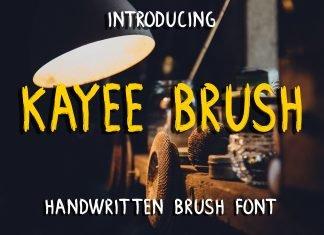 Kayee Brush Font