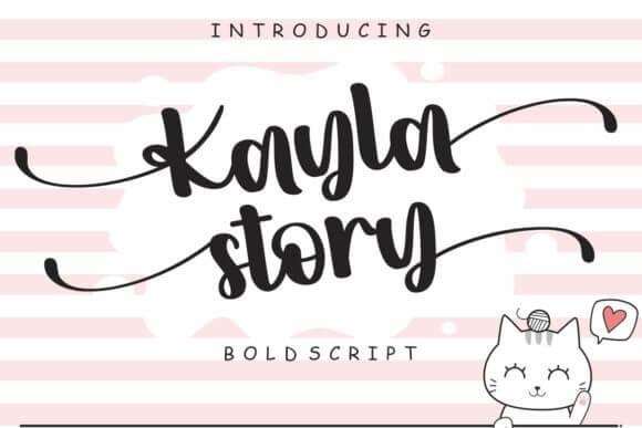 Kayla Story Font