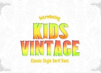 Kids Vintage Font