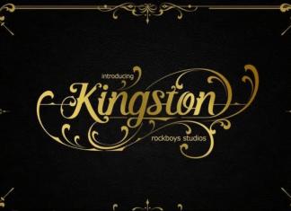 Kingston Elegant script font