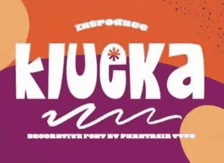 Klueka - Decorative Display Font
