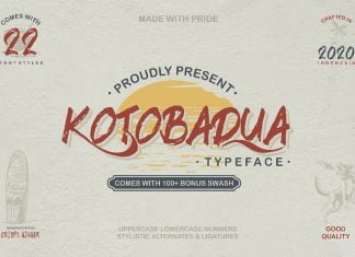 Kotoba Dua - 22 Font styles