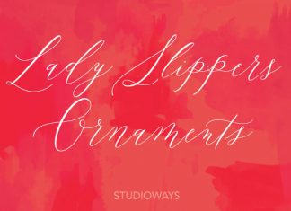 Lady Slippers Ornaments Font