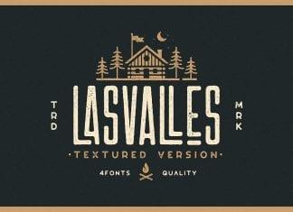 Las Valles Textured Font