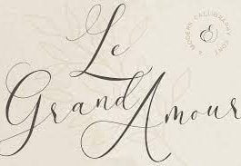 Le Grand Amour - Modern Calligraphy Font