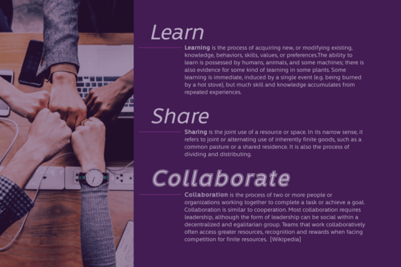Learn Share Collaborate Family