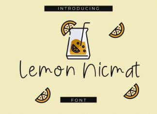 Lemon Nicmat Font