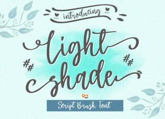 Light Shade - Script Font
