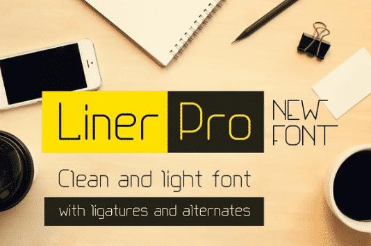 Liner Pro Font