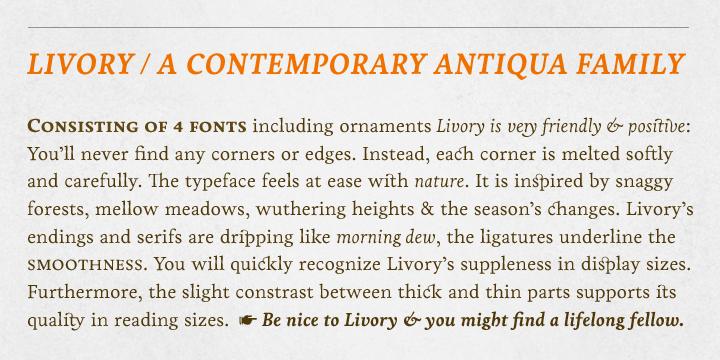 Livory Font Family