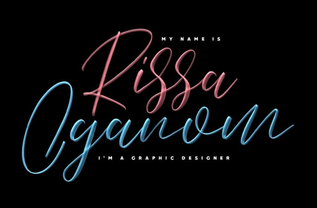 Love Brush SVG Font
