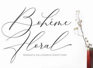 Luxury Font - Boheme Floral Font