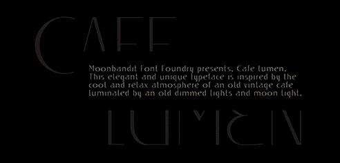 MBF Cafe Lumen Font