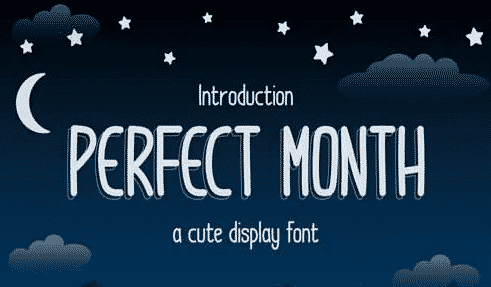 MS - Perfect Month Font