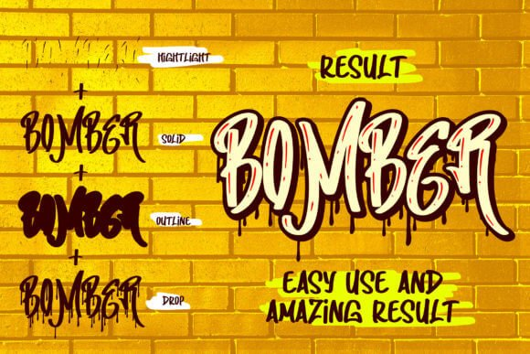 Making Bomber Font
