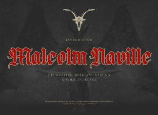 Malcolm Naville - Vintage Gothic Blackletter Font