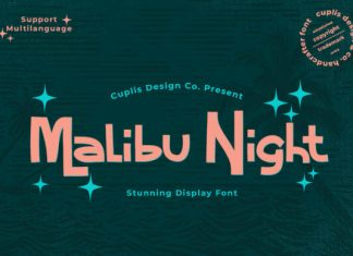 Malibu Night Font