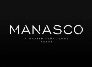 Manasco - A Modern Font Logos