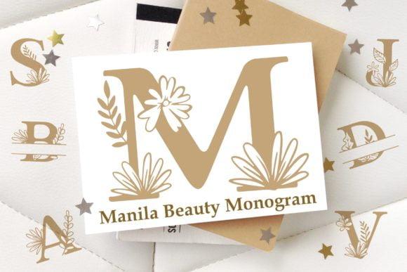 Manila Beauty Monogram Font