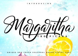 Margaritha - Tropicana - Unique Brush Font
